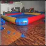 China PVC 0.9 yellow and red color inflatable swimming pool large inflatable pool for sale wholesale