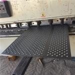 Galvanized Plate Grip Strut Grating / Perforated Round Flanging Grating For Walkway