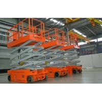 Scissor Electric Hydraulic Lift Platform Self Propelled For Construction / Maintenance