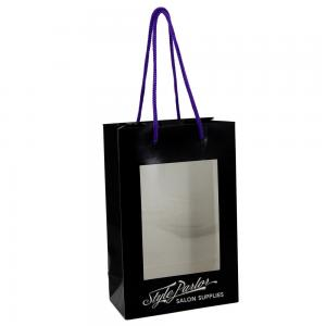 China 250 Gsm Personalised Shopping Bags , Paper Grocery Bags Large Window Displaying on sale