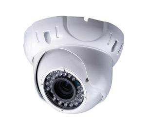 China White Vandal Proof WDR Dome Camera Long Range / Color For Warehouse on sale