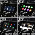 Digital Wireless Carplay Interface Cadillac CTS Android Auto Youtube Play Video