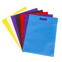 China Handled Colorful Non Woven Reusable Bags Eco Friendly Non Woven D Cut Carry Bag on sale