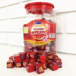 2.75g Strawberry Flavor Compressed Cube Candy In Jars Good price good quality