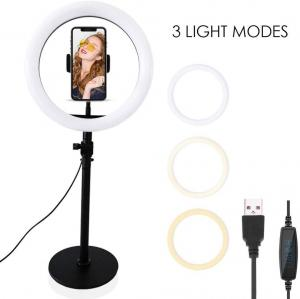 China Selfie Ring Light with Stand, Phone Holder for Makeup Live Stream Video Photography TikTok YouTube on sale