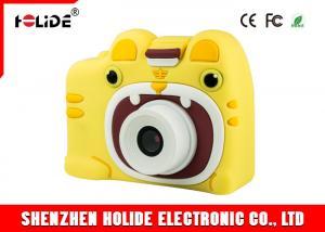 China IPS Cartoon Small Kids Camera Multi Functional JPEG / AVI Kids Action Camera Non Toxic on sale