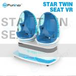 China Kids Interactive Game 9D Virtual Reality Cinema with 2 Chairs 360 Degree Egg wholesale