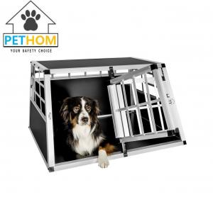 China ALUMINUM Double door Dog Cage Transport Car Travel Cage Box ZX896A1 on sale