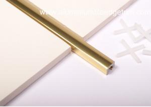 China Polished Golden Listello Tile Trim , Extruded Aluminum U ProfileChannel on sale