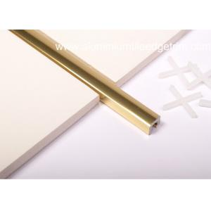 China Polished Golden Listello Tile Trim , Extruded Aluminum U Profile Channel on sale
