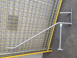 China Blow Moulded Temporary Fencing Feet with Concrete,Temporary Fence Barce ,Clamp System on sale