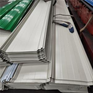 China 820mm ivory white corrugated sheet 0.376mm thickness for roof tile on sale