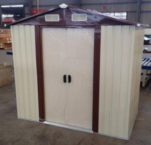 ... Quality 10x12u0027 Prefab Apex Metal Garden Storage Shed With Sliding Door  For Sale ...