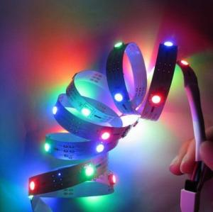 China Waterproof 5050 SMD LED Strips RGB 60 SMDs a meter strips with CE RoHs Certificate on sale