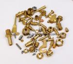 custom precision metal machined parts quality brass turned parts NPT male thread in common use
