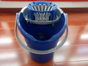 China 12 Liters Plastic Wring Bucket 360 Spin Mops For Clean hard wood floors and tile on sale