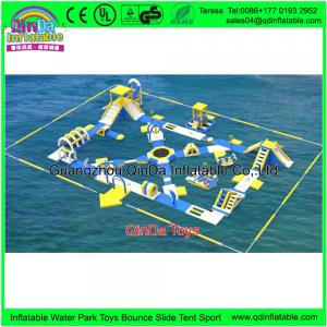China Commercial Water Bicycles For Sale Obstacle Courses Durable Inflatable Water Bike For Amusement Park on sale