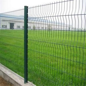 China Triangle bended fence/ V fold wire mesh fence for sale on sale