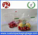Sacos de empacotamento do fruto Ziplock do slider do produto comestível de FDA com projeto do cliente