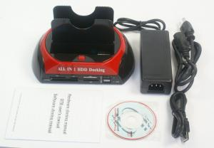 "Quality USB2.0&e-SATA a 2,5 3,5"" estación de acoplamiento multifuncional 875J de las ranuras dobles HDD de IDE&SATA for sale"