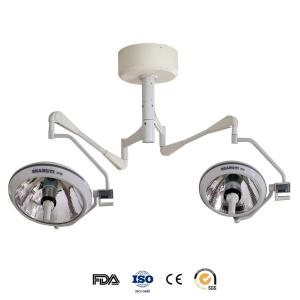 China Medical Exam Lamps Ceiling Mount Operating Light With 2 Halogen Bulbs 150000 Lux on sale