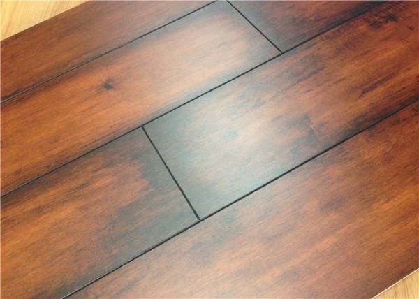Linen Surface Textured Engineered Wood Flooring In Kitchen Dark