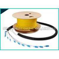 Pre - Terms Fanout 0.9MM SC Fiber Optic Cable 12 Core 50M Length 1000 Mating Cycles