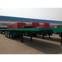 CIMC 40 Tons Cargo Flatbed Container Trailer Small Commercial Tri - Axle