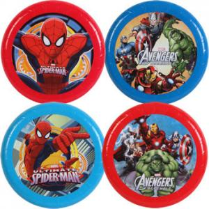 China Spiderman 9 Inch Plastic Flying Disc , Eco-Friendly Colorful Flying Disc Toy on sale