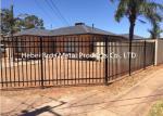 Commercial Zinc Steel Fence , Ornamental Galvanized Steel Tube Fence Panels