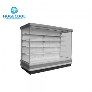China 4 Layers Shelf Multideck Display Fridge With Low Energy Consumption on sale