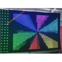 RGB Stage Lighting Fireproof  Velvet Full Color P10  LED Video Curtain