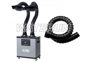 China Two Arms 200w 110v Fume Extractor , Grey Color Fume Eliminator With 4 Wheels on sale