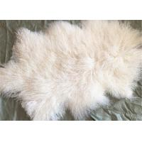 Mongolian lambswool blanket Long curly hair Tibetan Lamb fur skin Pelt rug plate