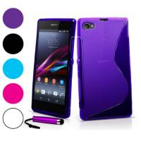 For Xperia Z1 Compact Case, 2014 New Mobile Phone bag, S Line Soft TPU Gel Skin Cover Case For Sony Xperia Z1 Compact