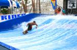 Attraction Flowrider Water Ride , Waterproof Single Rider Wave Skid Board