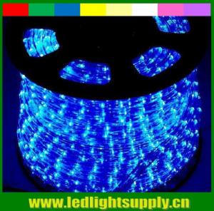 China solar lighting 2 wire blue 12v led waterproof rope flexible lights on sale