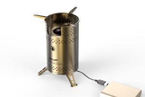 China Outdoor camp stove nomado Folding camping stove with USB blower mini biomass stove on sale