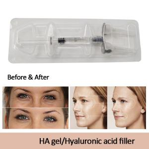 China 1ml cross linked filler injection hyaluronic acid , injectable hyaluronic acid gel on sale