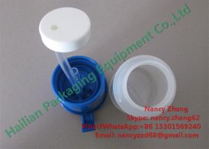 China Durable Plastic Return Teat Dip Cup With Blue Color Cover , Single-Top Molding on sale