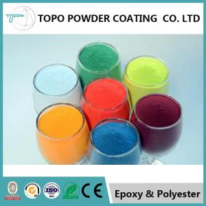 China Pure Interior Epoxy Resin Powder Coating , RAL1023 Traffic Yellow Powder Coat on sale