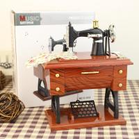 wholesale   Retro Nostalgic Wind Simulation Sewing Machine Music Box Music Box Creative Gifts New Trumpet