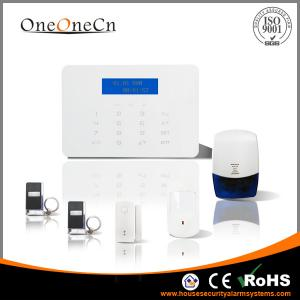 China Auto Dial Intelligent GSM Diy Home Alarm Systems 29 Wireless Defence Zone on sale