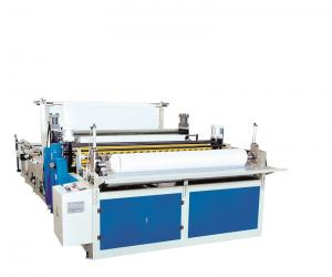 China Steel Toilet Paper Making Machine Jumbo Roll Slitting And Rewinding Machine on sale
