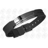 China 316 Stainless Steel Magnetic Bracelet Mens Jewellery In Gunmetal Look on sale