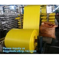 Pp Fabric Woven Sack Rice Bag Roll For Agriculture,60cm width virgin colorful flat surface tubular PP woven fabric roll