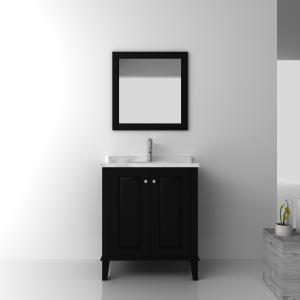 China Floor standing black Wooden Bathroom Cabinets / bath furniture sets on sale