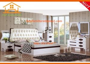 China antique wholesale price Indonesia white lacquer bedroom furniture on sale