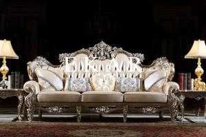Saudi Arabia Majlis Arabic Silver Upholstery Sofa Victorian Style