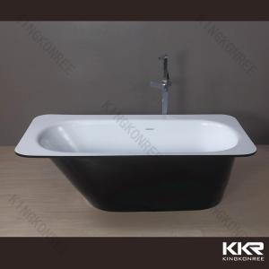 China Clawfoot Big Solid Surface Bathtub Resin Marble Tubs For Hotel Bathroom on sale